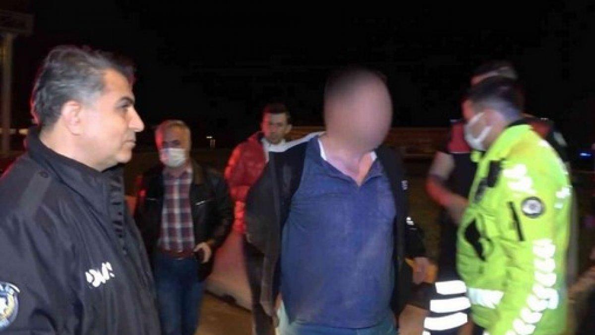 Kırıkkale'de dur ihtarına uymayan sürücü, yakalanınca özür diledi
